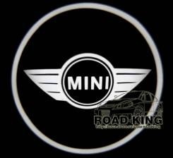 Лазерная проекция логотипа под двери авто Mini № 009