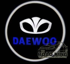 Лазерная проекция логотипа под двери авто Daewoo № 144