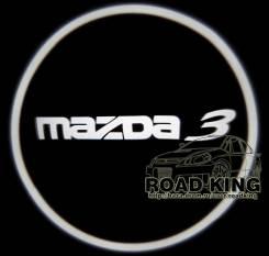 Лазерная проекция логотипа под двери авто Mazda 3 № 158. Mazda Mazda3