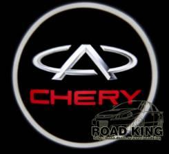 Лазерная проекция логотипа под двери авто Chery № 091