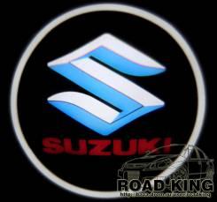 Лазерная проекция логотипа под двери авто Suzuki № 024. Suzuki Every