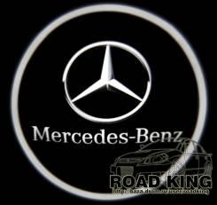 Лазерная проекция логотипа под двери авто Mercedes - Benz № 017. Mercedes-Benz
