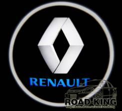 Лазерная проекция логотипа под двери авто Renault № 064