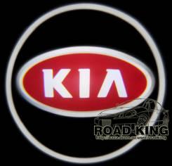 Лазерная проекция логотипа под двери авто KIA № 100