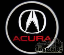 Лазерная проекция логотипа под двери авто Acura № 077