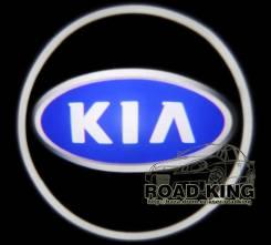 Лазерная проекция логотипа под двери авто KIA № 099
