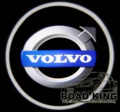 Лазерная проекция логотипа под двери авто Volvo № 081