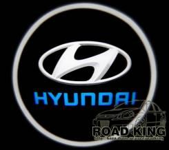 Лазерная проекция логотипа под двери авто Hyundai № 074. Hyundai Azera