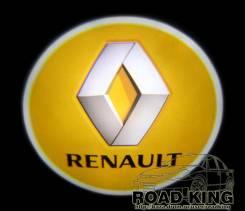 Лазерная проекция логотипа под двери авто Renault № 065