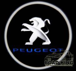 Лазерная проекция логотипа под двери авто Peugeot № 039