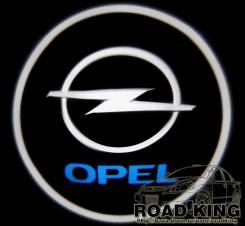 Лазерная проекция логотипа под двери авто Opel № 036