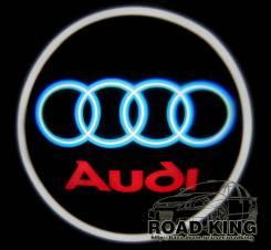 Лазерная проекция логотипа под двери авто Audi № 011