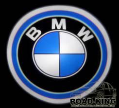 Лазерная проекция логотипа под двери авто BMW № 008