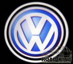 Лазерная проекция логотипа под двери авто Volkswagen № 006