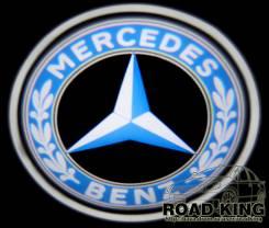 Лазерная проекция логотипа под двери авто Mercedes - Benz № 018. Mercedes-Benz