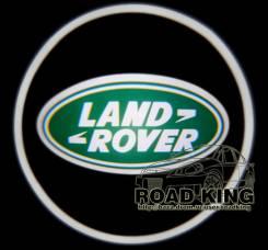Лазерная проекция логотипа под двери авто Land Rover № 067