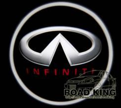 Лазерная проекция логотипа под двери авто Infiniti № 076