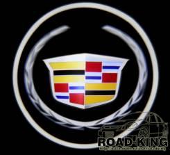 Лазерная проекция логотипа под двери авто Cadillac № 040