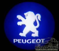 Лазерная проекция логотипа под двери авто Peugeot № 038