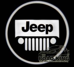 Лазерная проекция логотипа под двери авто Jeep № 025