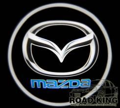 Лазерная проекция логотипа под двери авто Mazda № 013. Mazda Ford Freda