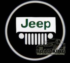 Лазерная проекция логотипа под двери авто Jeep № 328