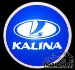 Лазерная проекция логотипа под двери авто Kalina № 332. Лада Калина