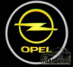Лазерная проекция логотипа под двери авто Opel № 327