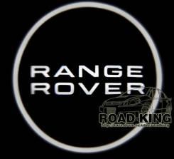Лазерная проекция логотипа под двери авто Range Rover № 323. Land Rover Range Rover