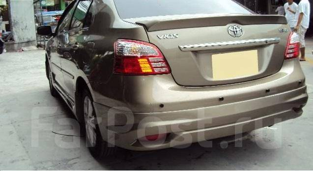 Накладка на бампер. Toyota Vios Toyota Belta, KSP92, NCP96, SCP92 Двигатели: 1KRFE, 2NZFE, 2SZFE