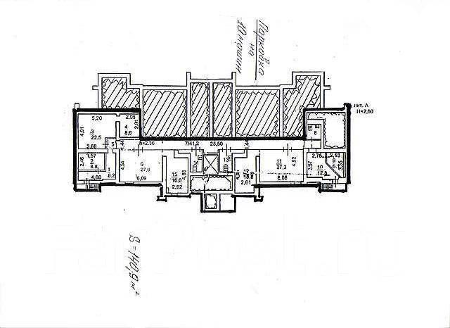 Коммерческая недвижимость. Улица Прапорщика Комарова 27, р-н Центр, 141 кв.м. План помещения