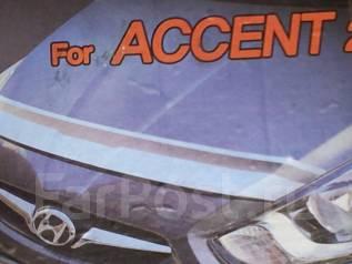 Дефлектор капота. Hyundai Accent Hyundai Solaris