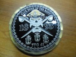 Памятный жетон от экипажа фрегата USS Vandegrift (FFG 48)(круглый)