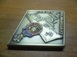 Памятный жетон от экипажа фрегата USS Vandegrift (FFG 48)(ромб)