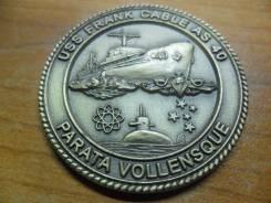 Памятный жетон от экипажа USS Frank Cable (AS 40)
