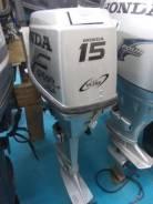Honda. 15,00л.с., 4х тактный, бензин, нога S (381 мм), Год: 2005 год