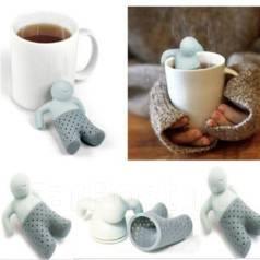 Ситце заварник для чая человечек мистер чай (человечек Mr Tea)