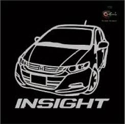 Наклейка Honda Insight c фирменной надписью