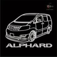 Наклейка Toyota Alphard c фирменной надписью