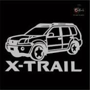 Наклейка Nissan X-Trail c фирменной надписью