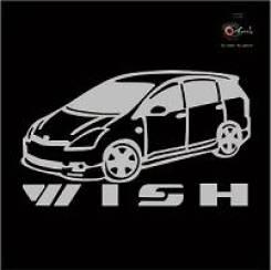 Наклейка Toyota WISH c фирменной надписью