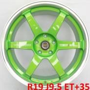 RAYS VOLK RACING. 9.5x19, 5x114.30, ET35, ЦО 73,1мм.