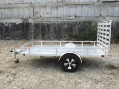 DVRV UT5X10. Алюминиевый прицеп к легковому автомобилю для перевозки снегохода, 600кг.