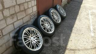 Отличный комплект колес r18 с резиной 225/40. 8.0x18 5x114.30 ET35 ЦО 73,0мм.