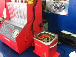 Тестирование и ультразвуковая чистка форсунок бензиновых двигателей .