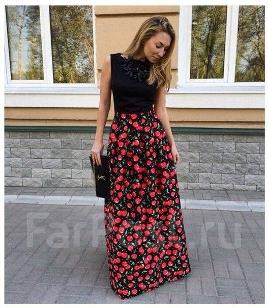 Платье с вишнями купить