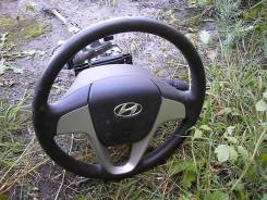 Рулевое колесо c airbag. Hyundai Solaris
