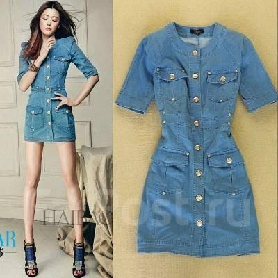 Платье джинсовое фото короткое