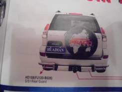 Задняя подножка фаркопом Toyota Land Cruizer Prado 120