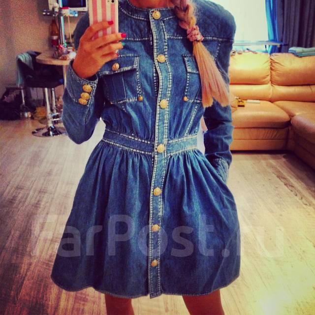 Balmain джинсовые платья